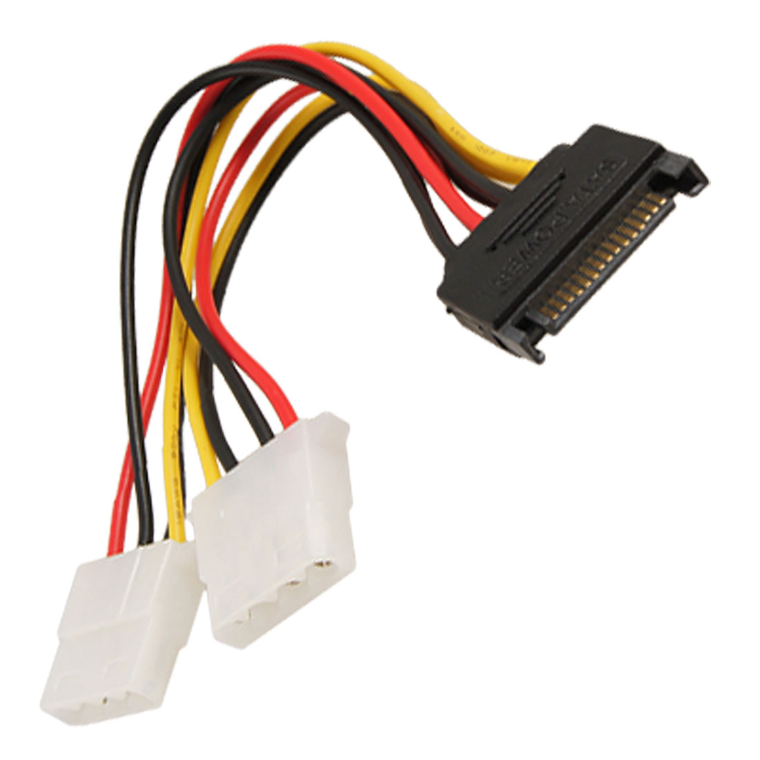 SATA 15 Pin Male to Female 4 Pin IDE Adapter Power Cable Cord