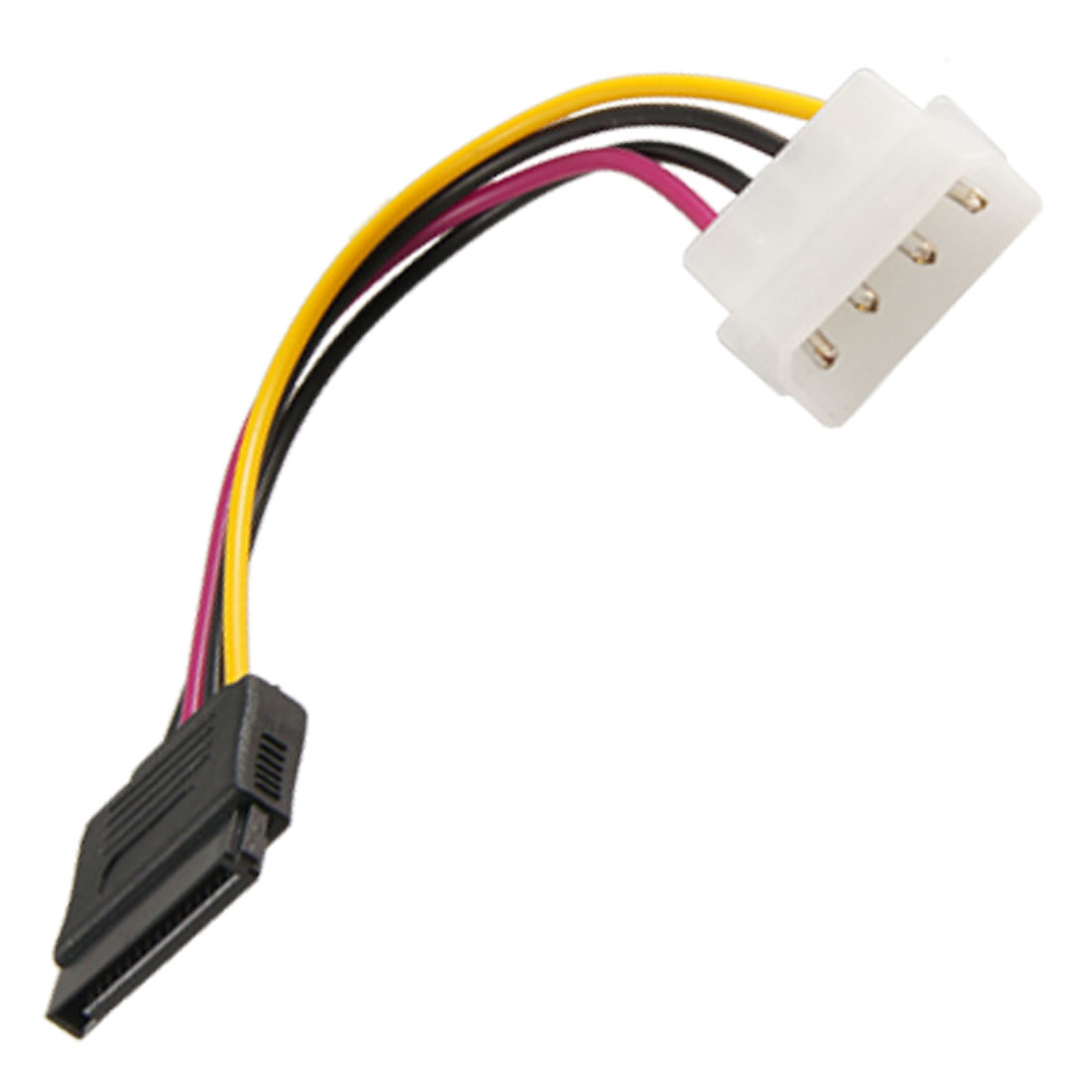 17cm 4 Pin IDE to 15 Pin Female SATA Adapter Power Cable Cord