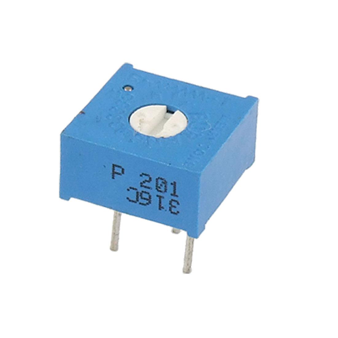 200 Ohm 500V Trimmer Cermet Variable Resistor Potentiometers 50 Pcs