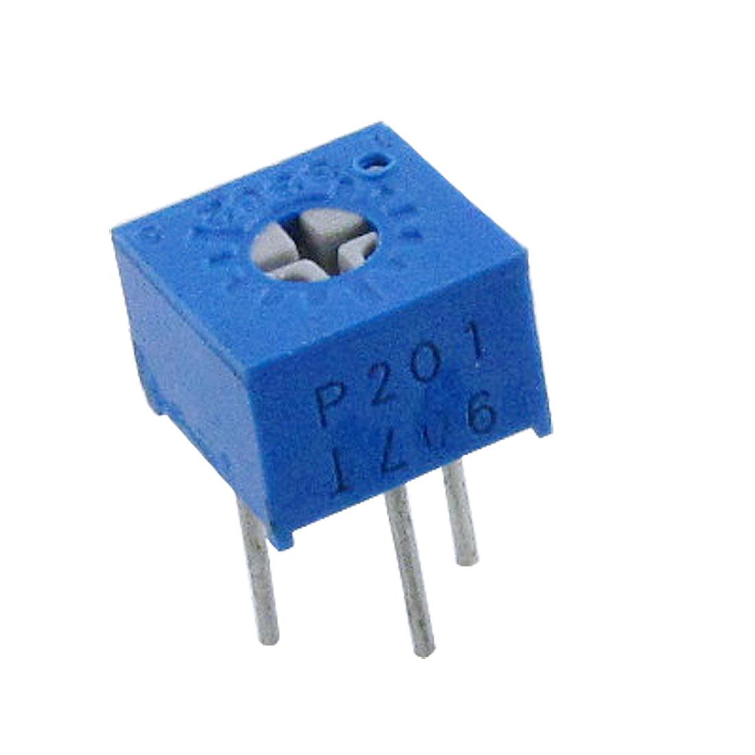 3362P-1-201 Single Turn Trimmer Pot Potentiometer 200 Ohm 50 Pcs