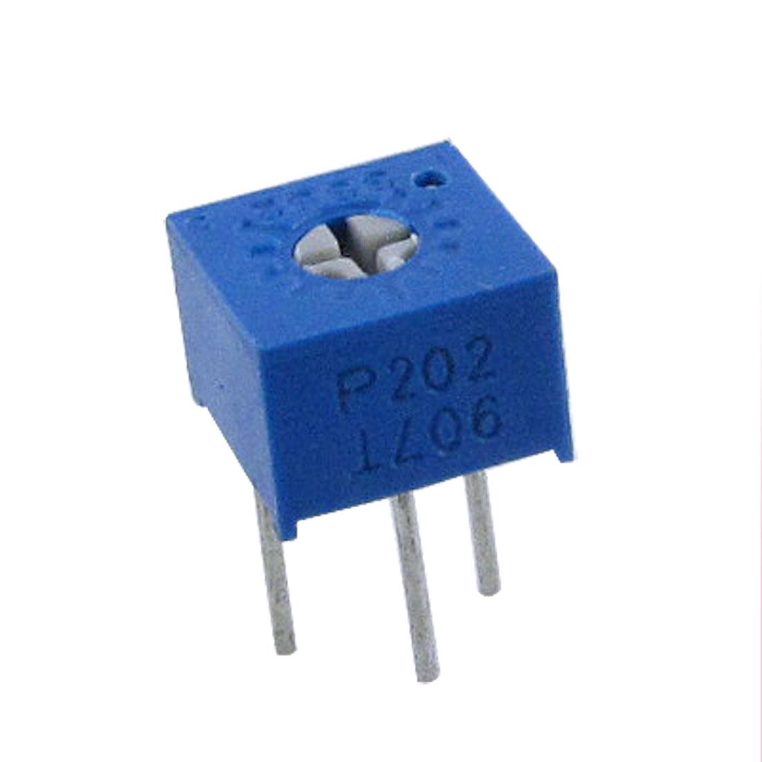 50 Pcs 3362P 2K Ohm Trim Pot Potentiometers Variable Resistors