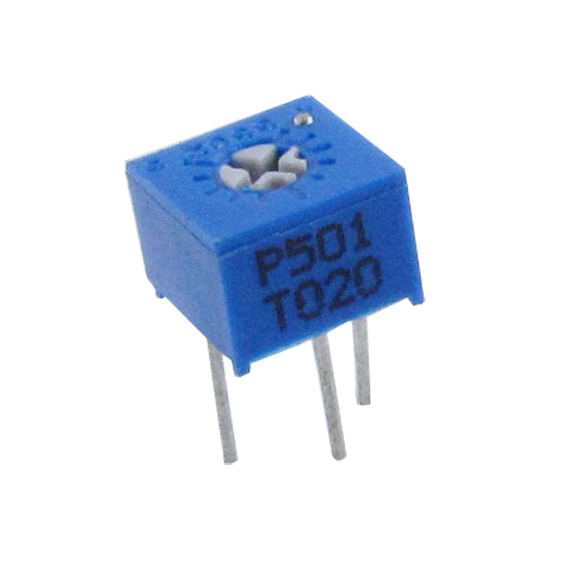 50 Pcs 3362P-1-501 1/2W 500 Ohm Single Turn Trimmer Potentiometer