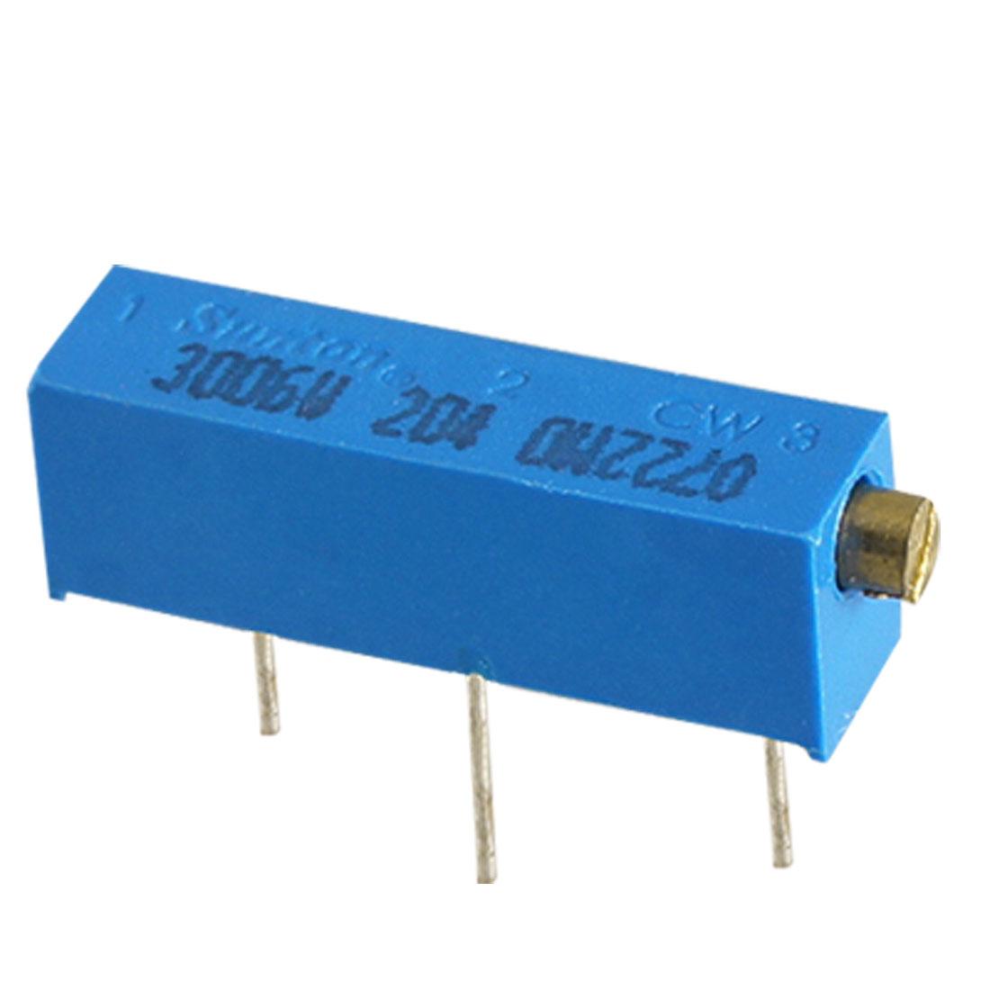 3006P-1-204 200K Ohm Cermet Trimmer Potentiometer 15 Turn 25 Pcs