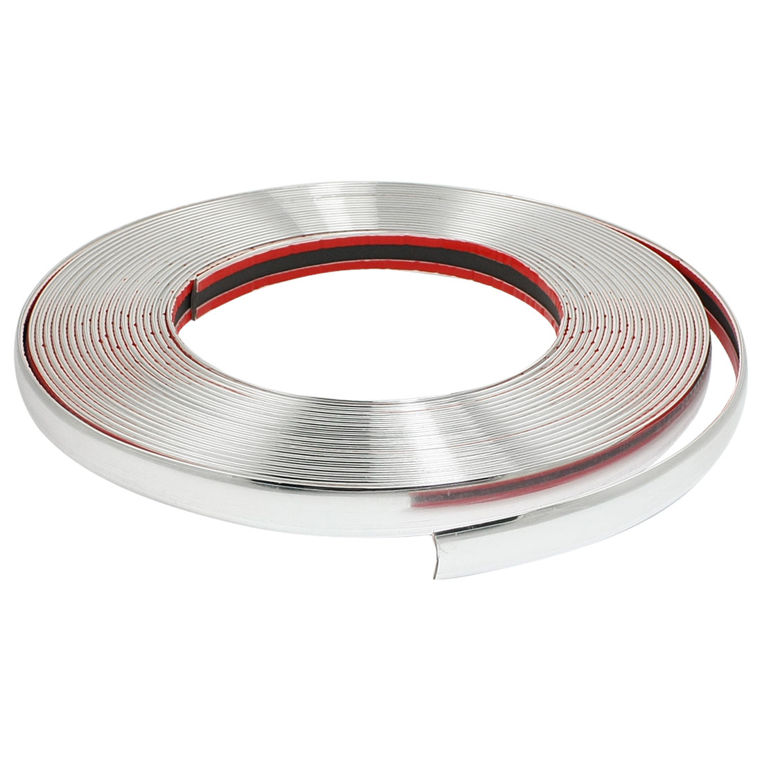 Car Auto 7mm x 15M Flexible Plastic Chrome Moulding Trim Strip Line Silver Tone