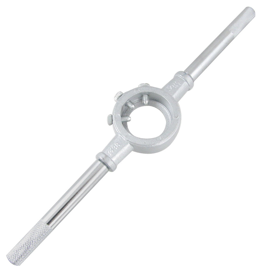 "38mm 1-1/2"" OD Die Stock Handle Wrench 3 Screw Round Die Holder"