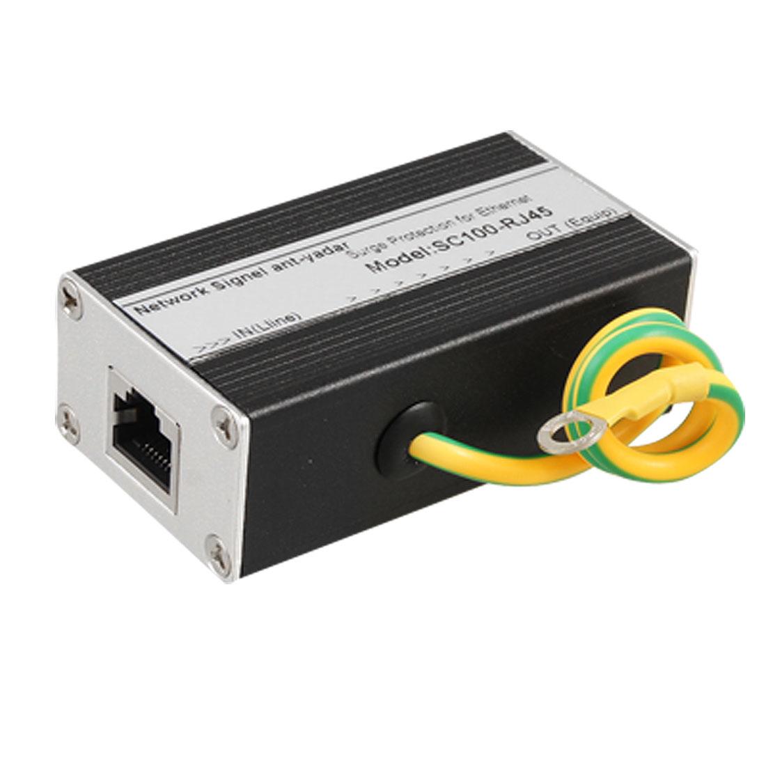 RJ45 Ethernet Network Thunder Surge Protector Ligthning Arrester 155Mbps