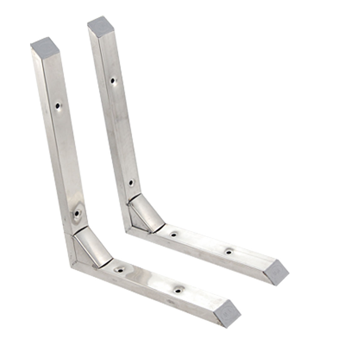 "Stainless Steel 90 Degree 9.5"" Wall Mounting Bracket 2 Pcs"