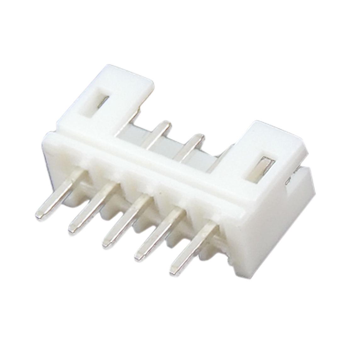 100 Pcs 2mm Pitch 5 Pins PCB DIP Welding Bar Connectors
