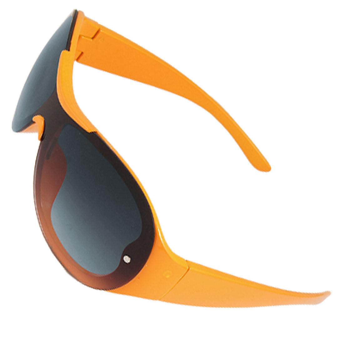 Children Yellow Plastic Frame Tinted Lens Sunglasses