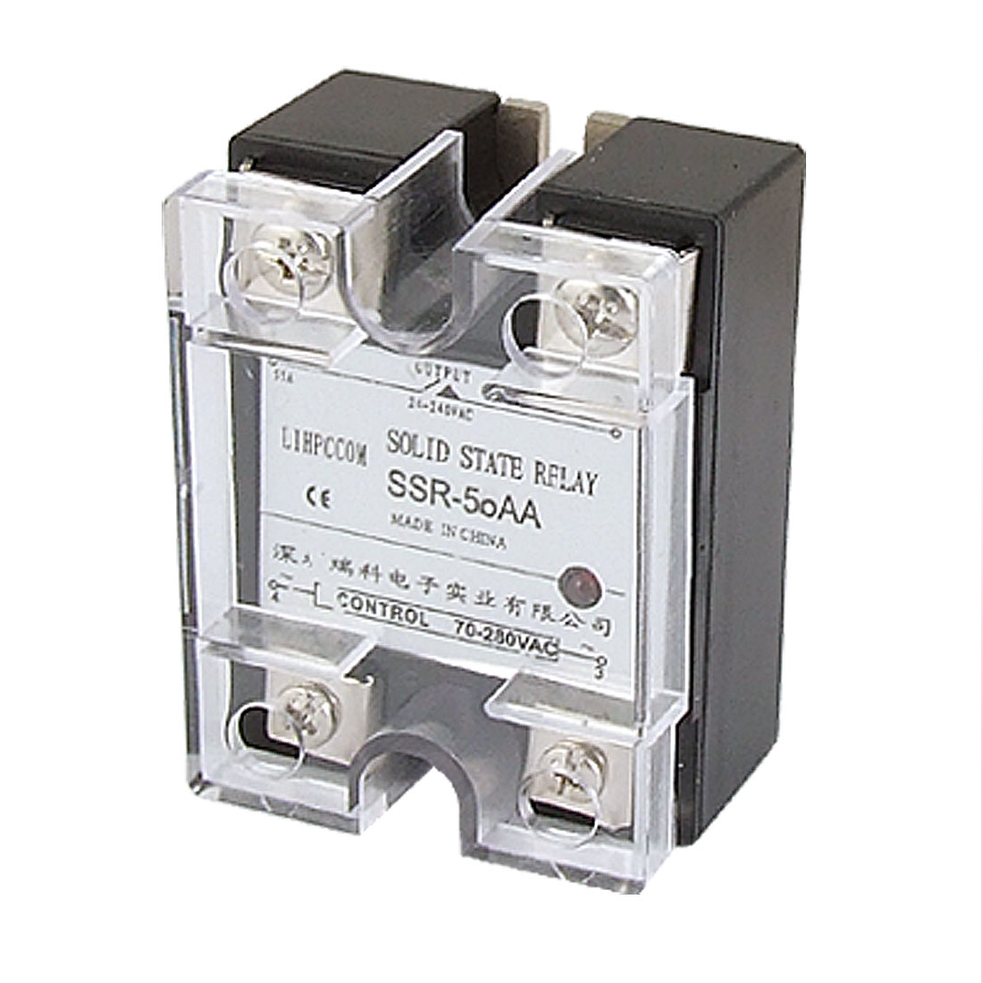 Single Phase Solid State Relay SSR AC-AC 50A 24-240V AC / 70-280V AC