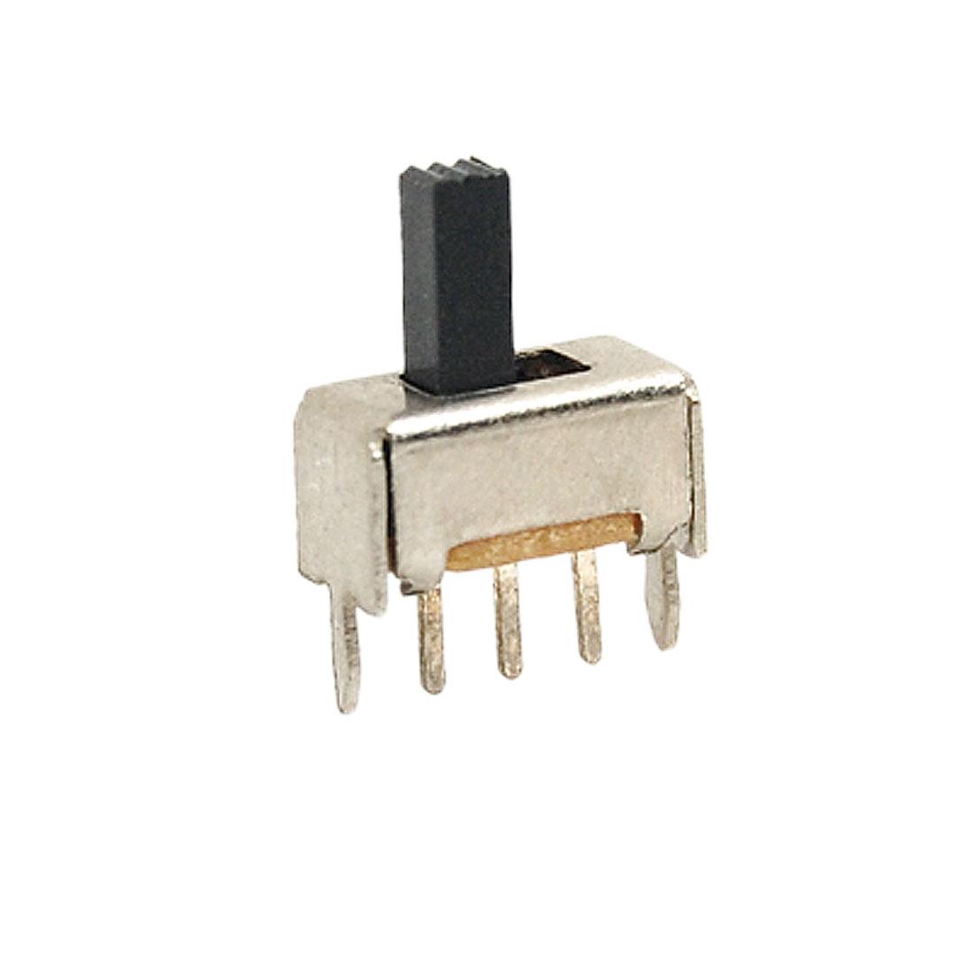 10x 5.3mm High Knob 3 Pin 2 Position 1P2T SPDT Vertical Slide Switch 0.3A 50V DC