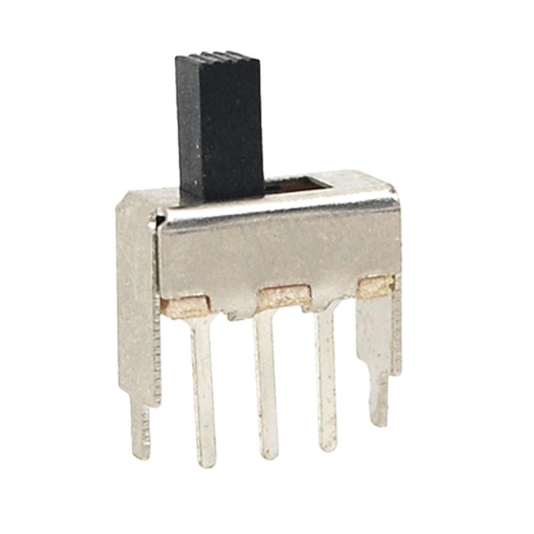 10 Pcs 6mm Height Knob 3 Pin 2 Position 1P2T SPDT Mini Slide Switch 0.5A 50V DC