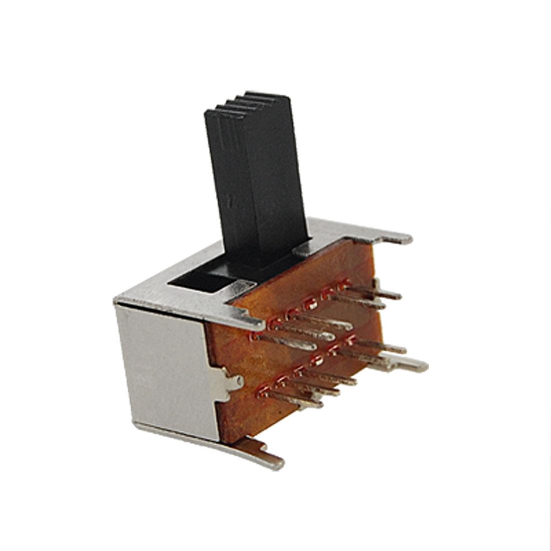 10 Pcs Panel PCB 10 Pin 4 Position 2P4T DP4T Slide Switch Side Knob 0.3A 50V DC