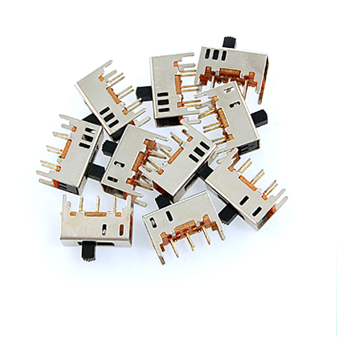 10 Pcs x DC 50V 0.3A On/On 2 Position 2P2T DPDT PCB Vertical Slide Switch 6 Pin