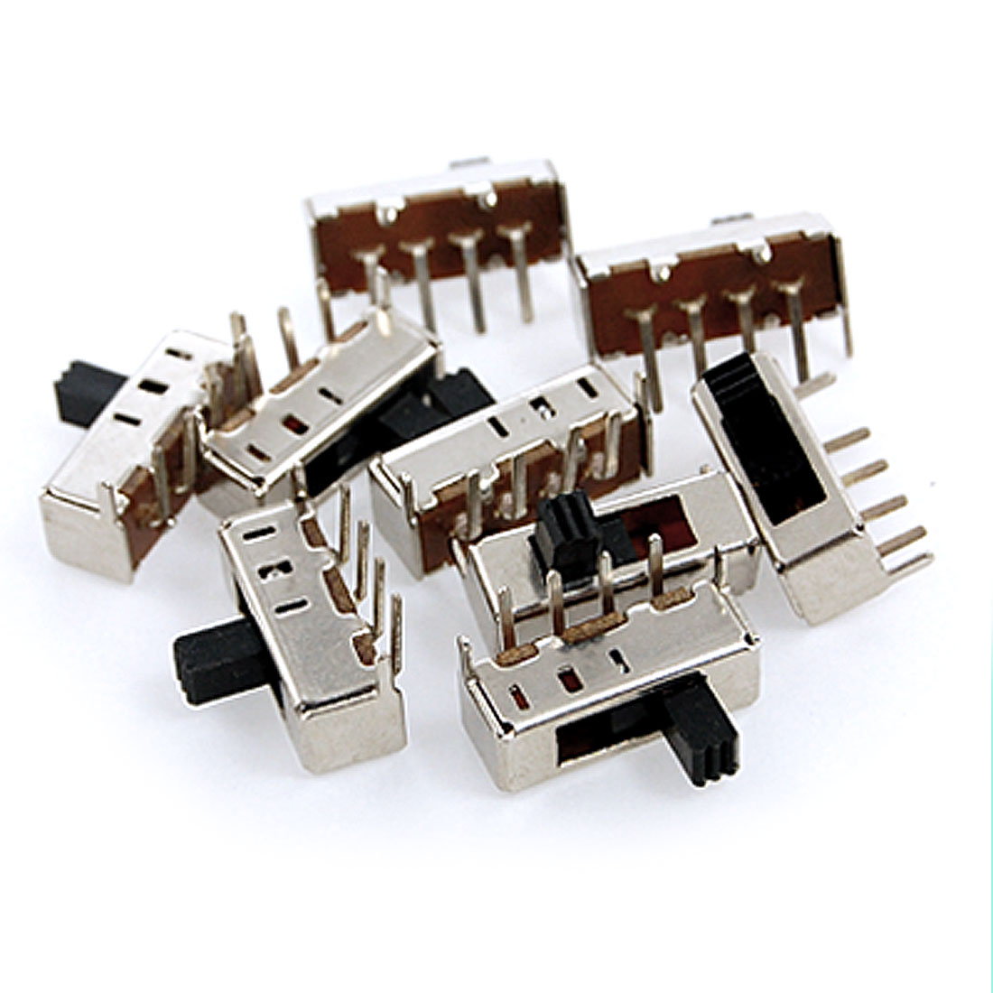 10 Pcs x Panel PCB 4 Pin 3 Position 1P3T SP3T Slide Switch Side Knob 0.5A 50V DC