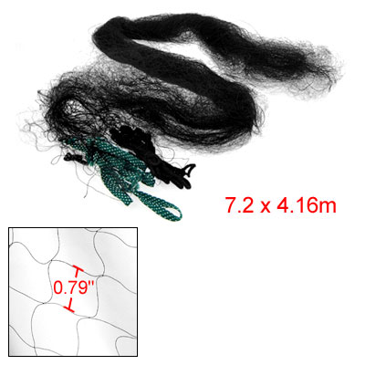 2 x 2cm Mesh Ponds Orchard Anti-bird Netting Net Black