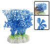 Aquarium Fish Tank Landscaping Blue White Plastic Plants Ornament