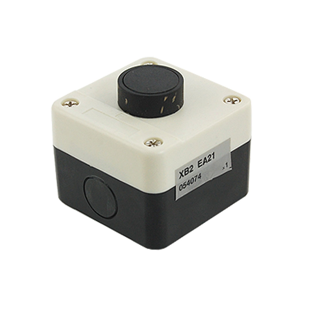 AC 240V 3A Normally Open Black Momentary Flat Push Button Switch