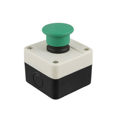 AC 400V 10A Normally Open Green Momentary Mushroom Push Button Switch