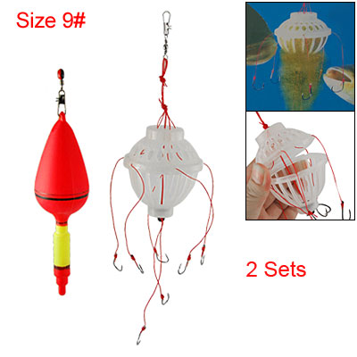 9# Sharp Lantern Hook Floater Stopper Weight 2 Sets for Fishing