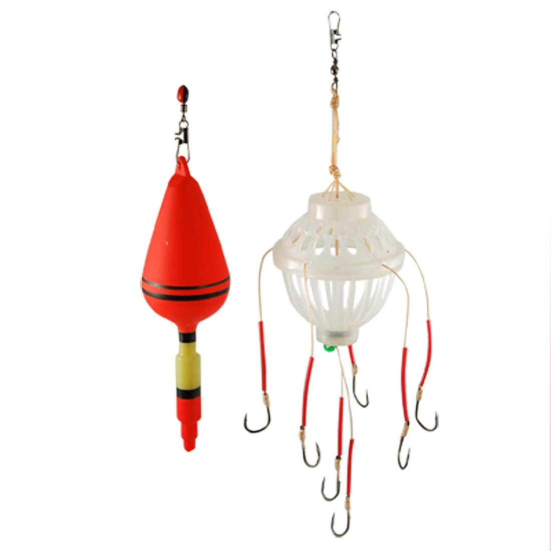 Pair 12# Fishing Lantern Hook Bobber Stopper Weight Set