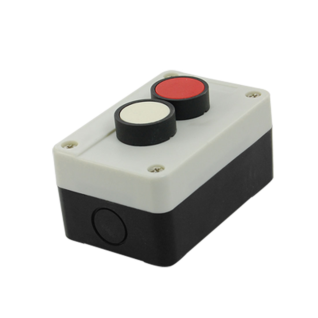 Red White Round Head 2 NO Momentary Switch Push Button Station