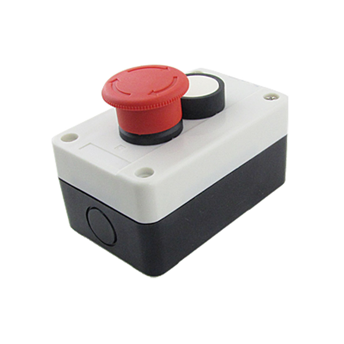 400V 10A White Round Red Mushroom Head Push Button Station