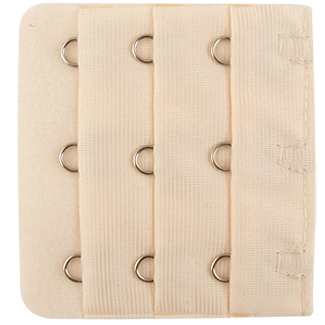 Woman 5 Pcs Beige 3 x 3 Hooks Bra Extender Hook and Eye Tape