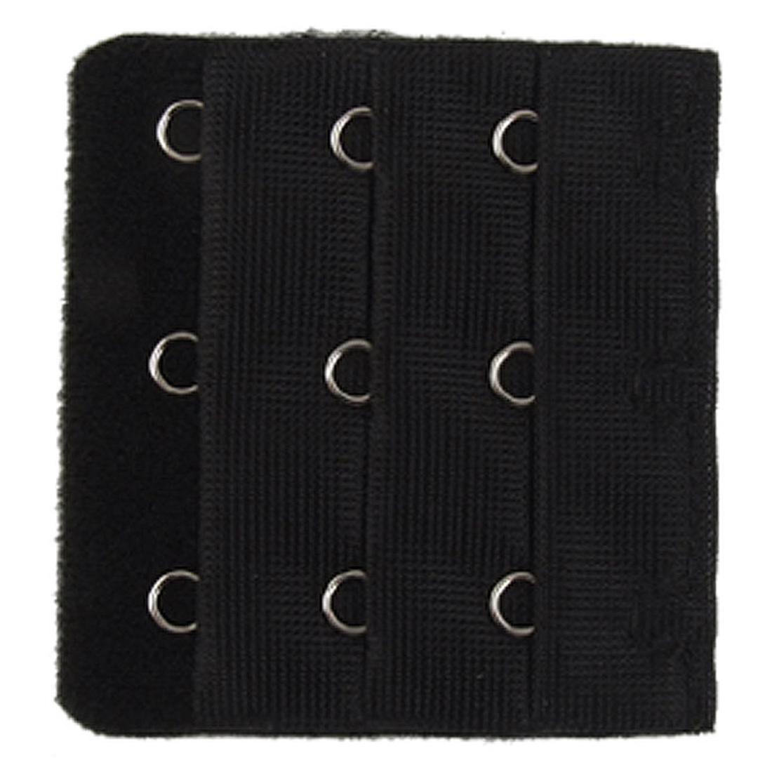 5 Pcs Black 3-Row Hooks Hook and Eye Tape Bra Strap Extenders