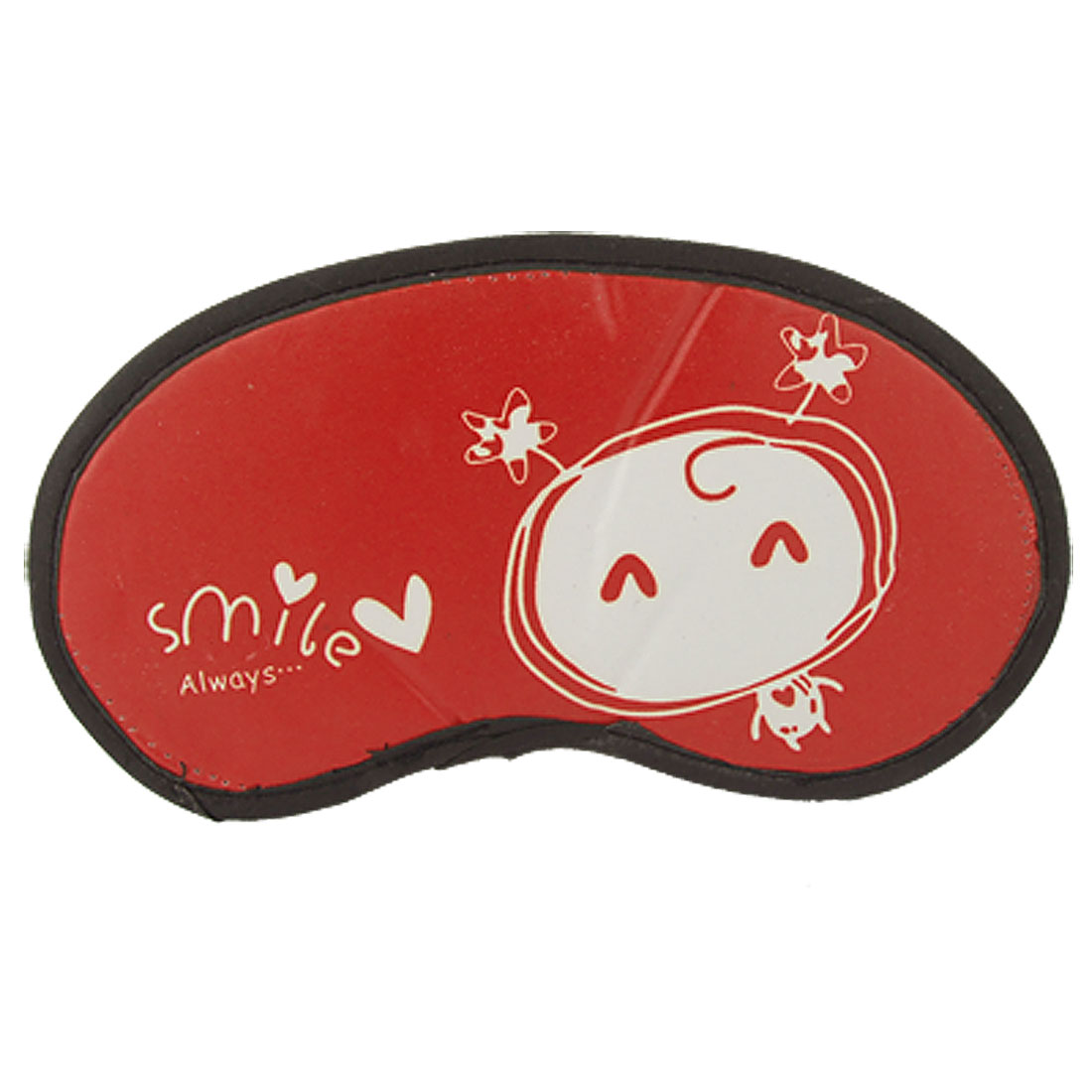 Elastic Strap Cartoon Sleeping Mask Eye Shade Patch Red
