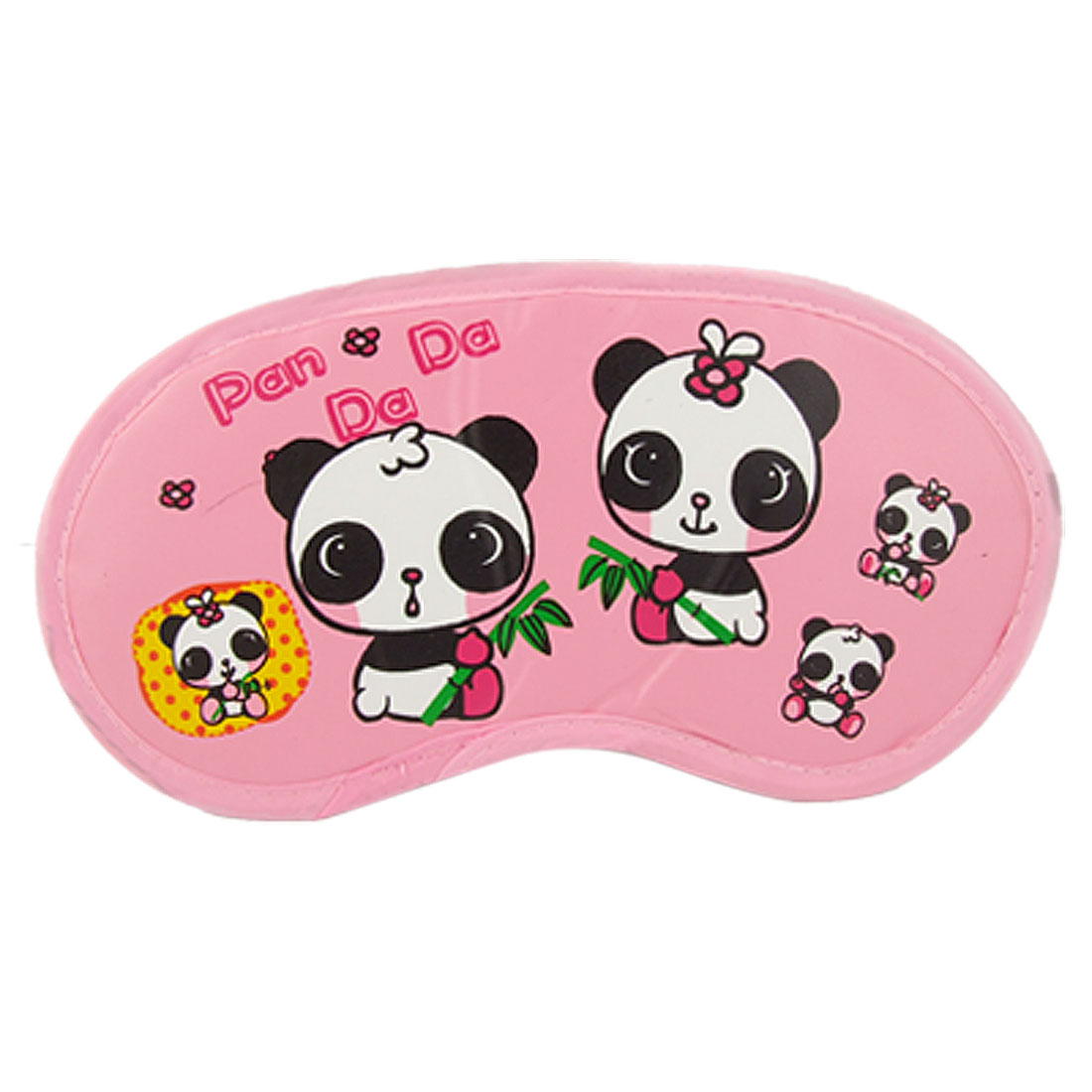Cute Panda Print Pink Sleeping Mask Eye Shade Cover