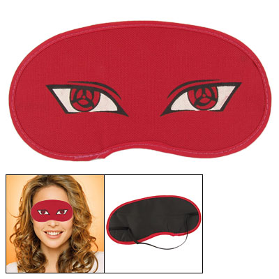 Red Cartoon Print Elastic Strap Eye Shade Sleep Mask Cover