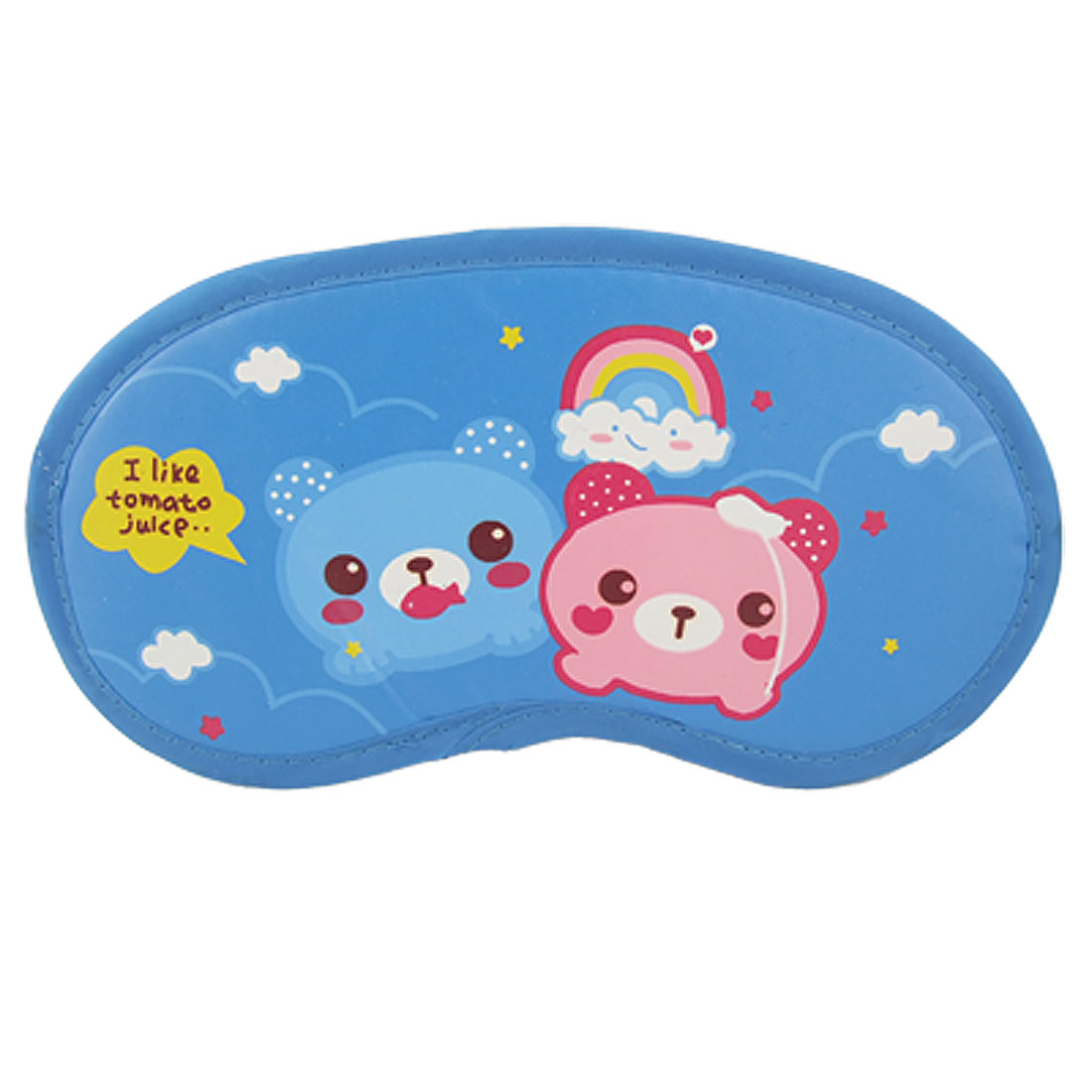 Cartoon Travel Sleeping Eyemask Eye Mask Shade Cover Blue