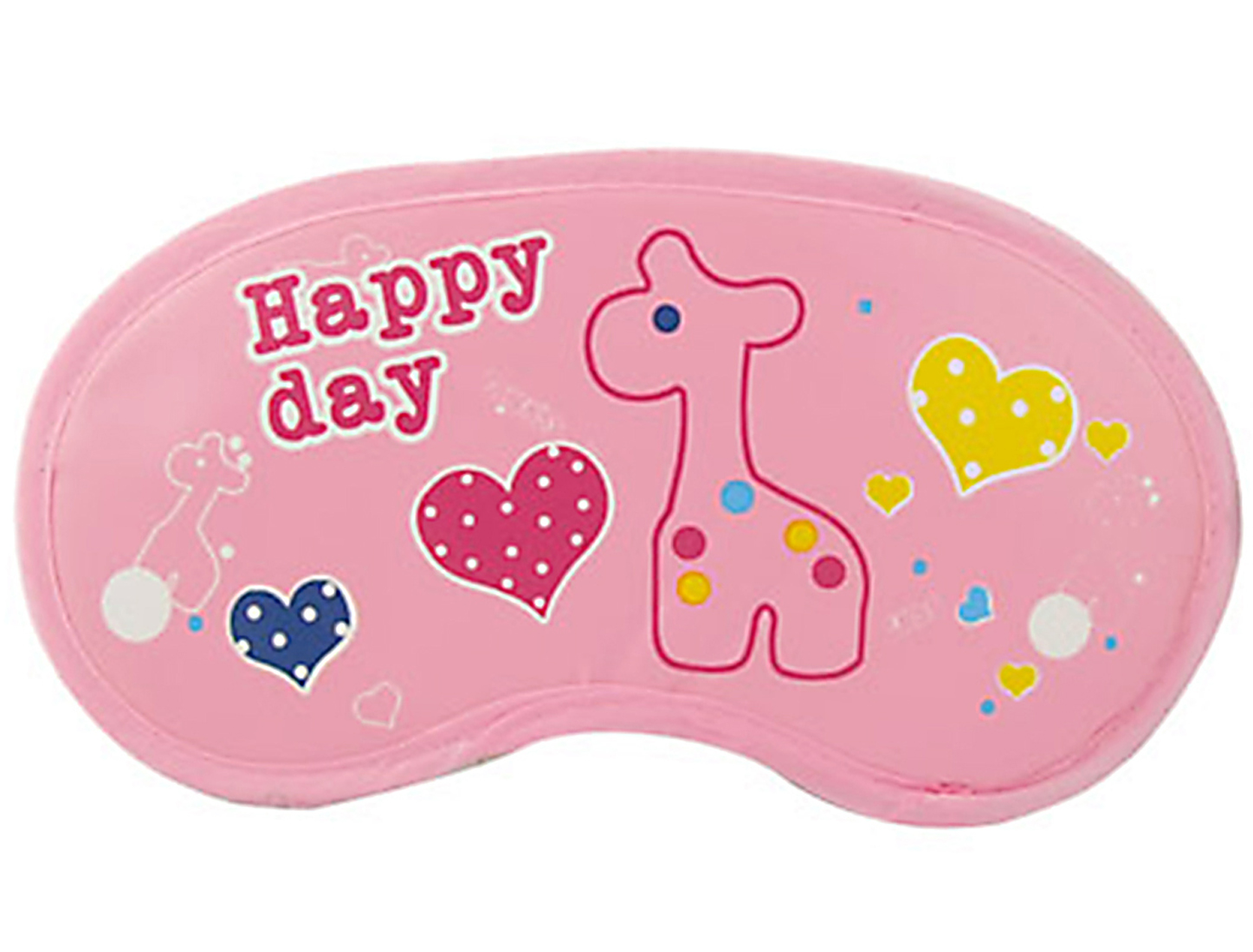 Cartoon Hearts Deer Print Pink Eyeshade Sleeping Mask