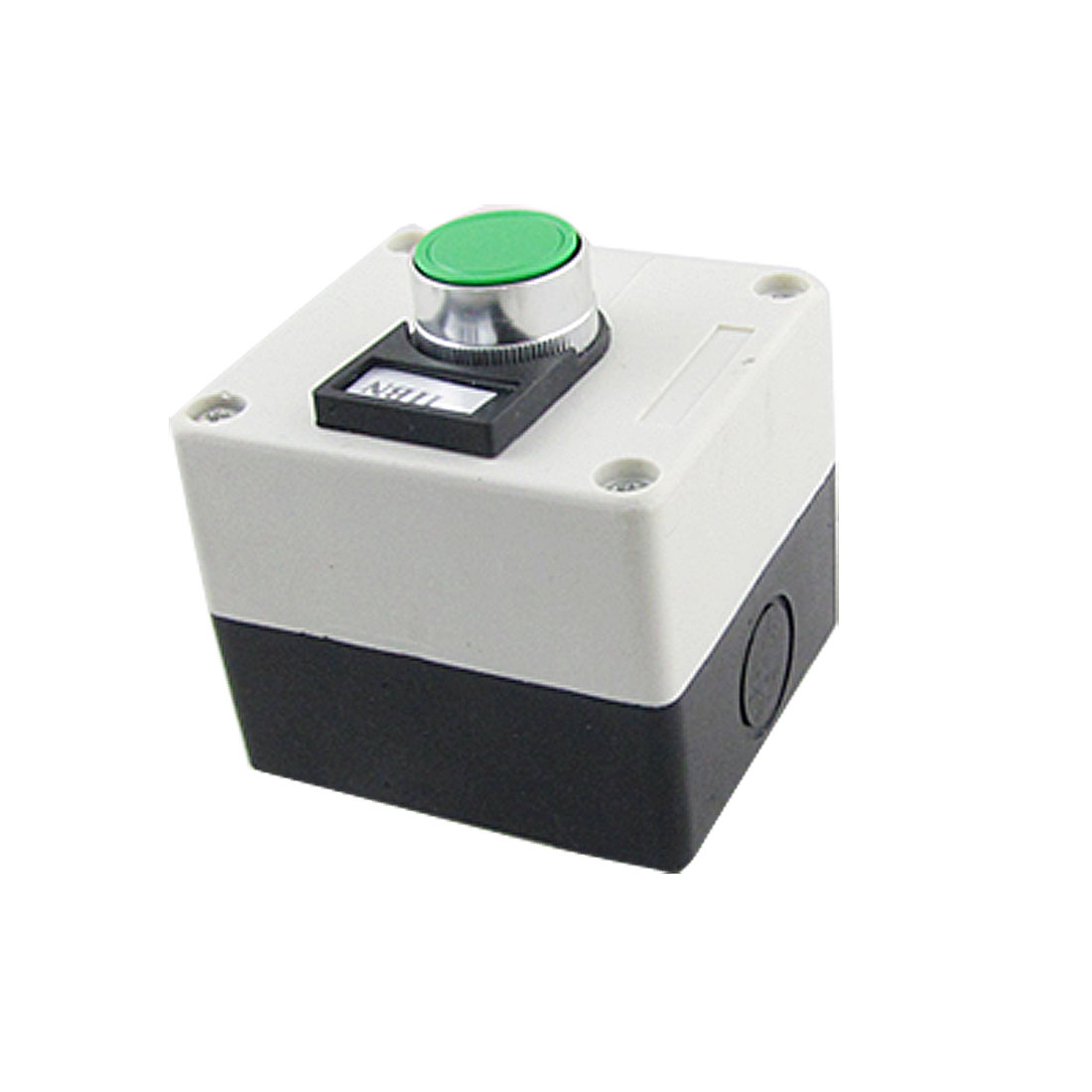 Ui 600V Ith 10A Round Green Head Momentary Switch Push Button Station