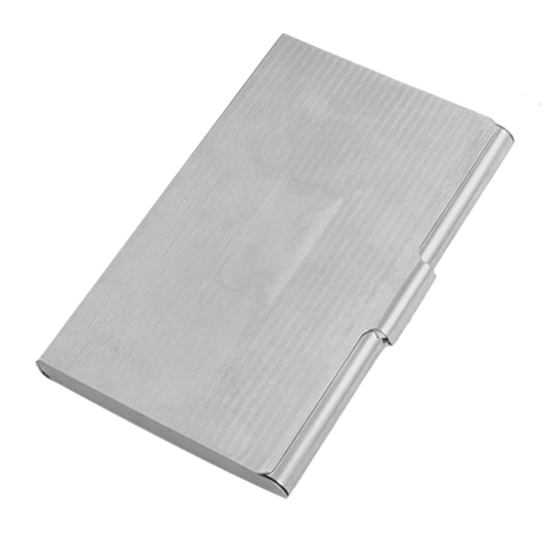 Silver Tone Stainless Steel Business Credit Card Holder Case