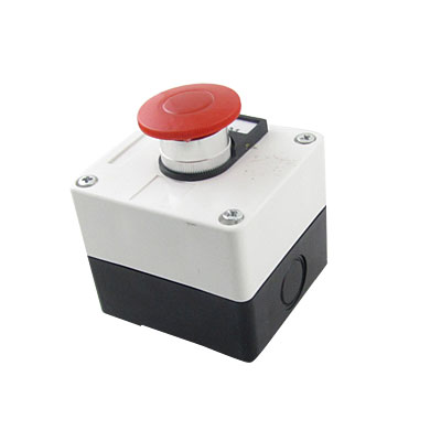 600V 10A Momentary Switch Red Green Mushroom Push Button Station
