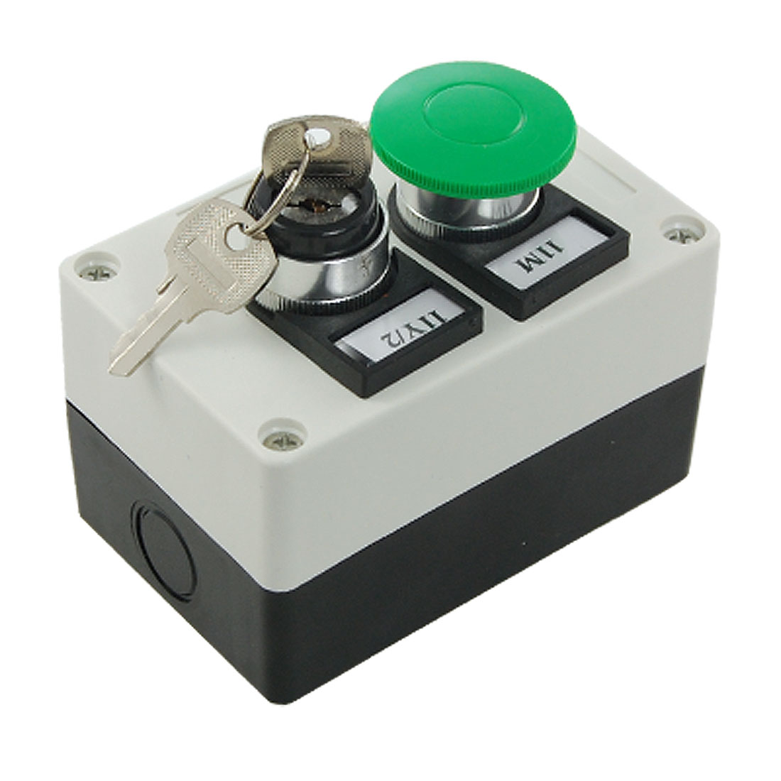 Key Locking On/off Rotary Switch Momentary Mushroom Push Button Station