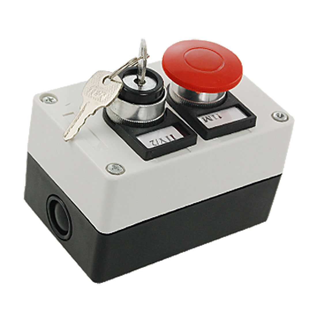 2 in 1 Key Locking on/off Red Momentary Mushroom Push Button Switch