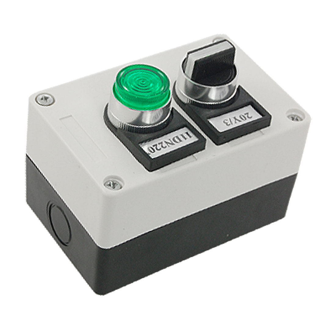Green Indicator Switch 3 Position Selector Push Button Station