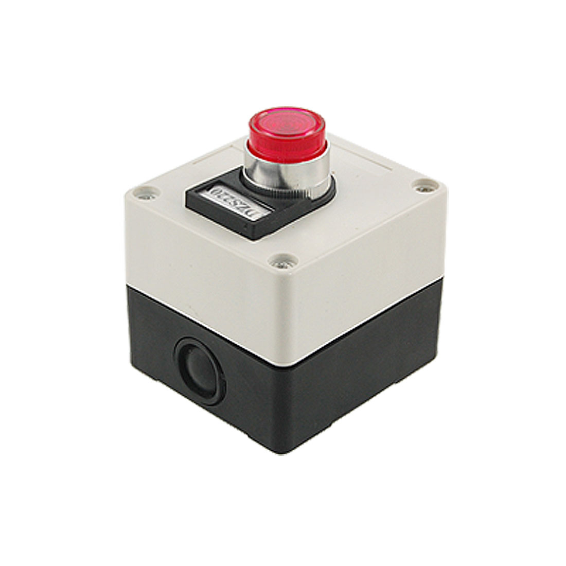 AC 220V Red Indicator Light Self Locking Push Button Switch