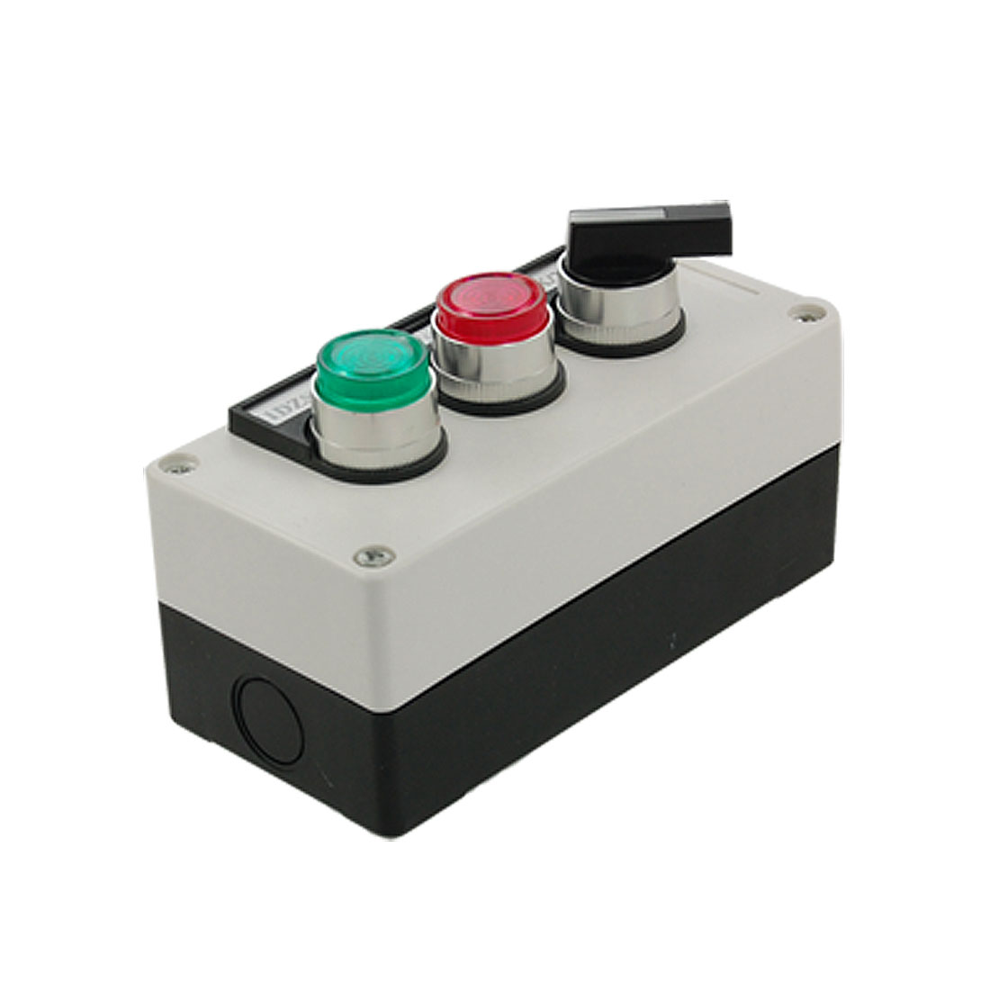 600V 10A Rotary Selector Switch Red Green Self Locking Lamp Push Button Station