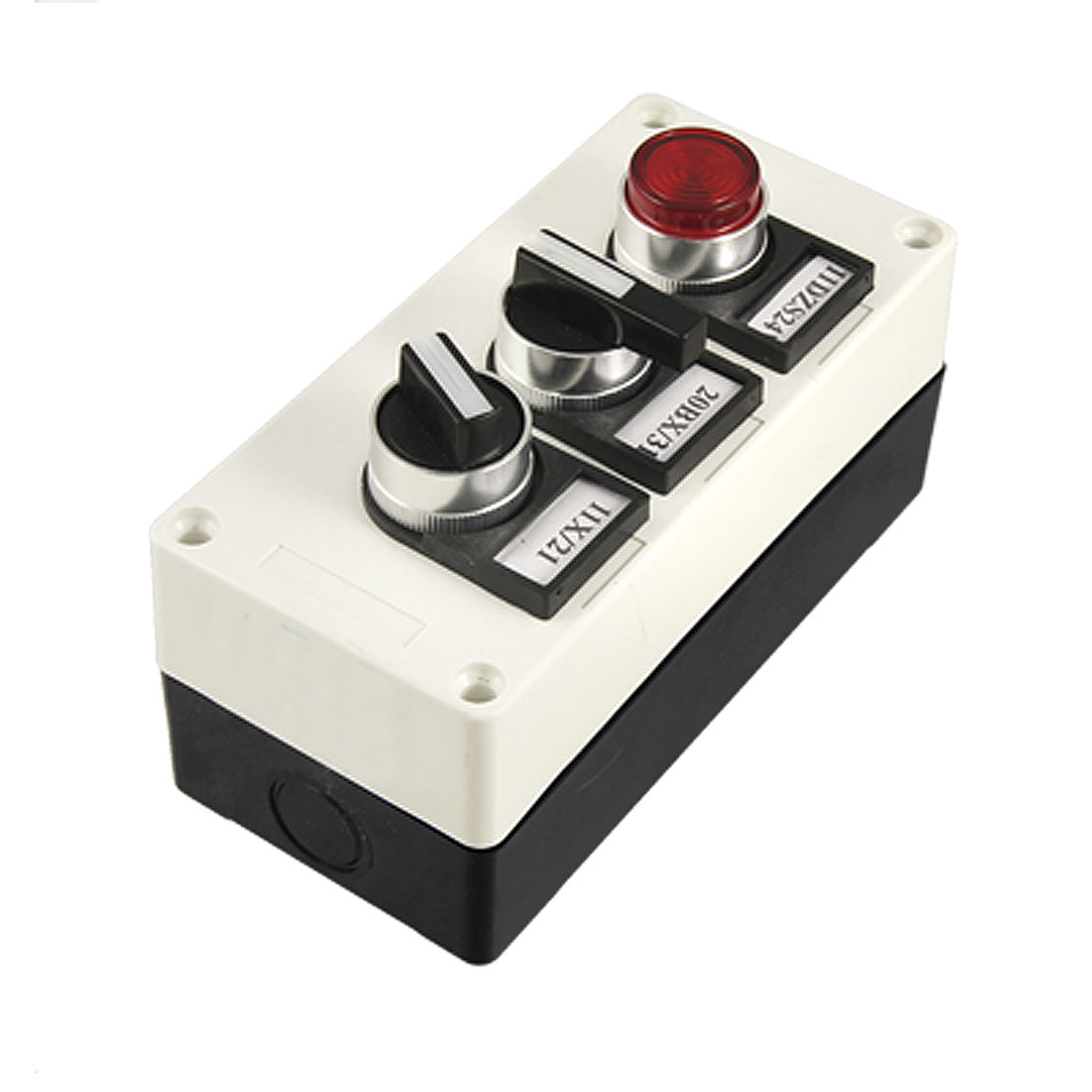 Red Light Self Locking Switch Rotary Selector Push Button Station