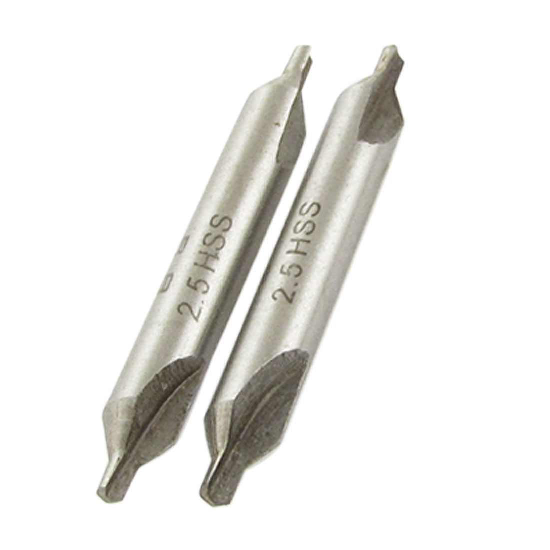 "2 Pcs 0.1"" Diameter Lathe Drilling Hole Tool Center Drill Bits"