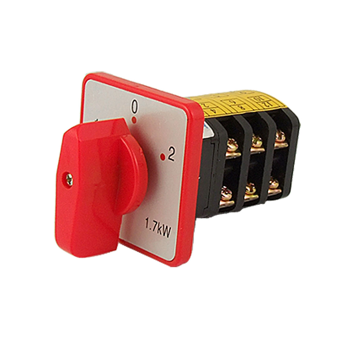 Square Plate on/off/on Screw Terminal Universal Cam Switch AC 380V