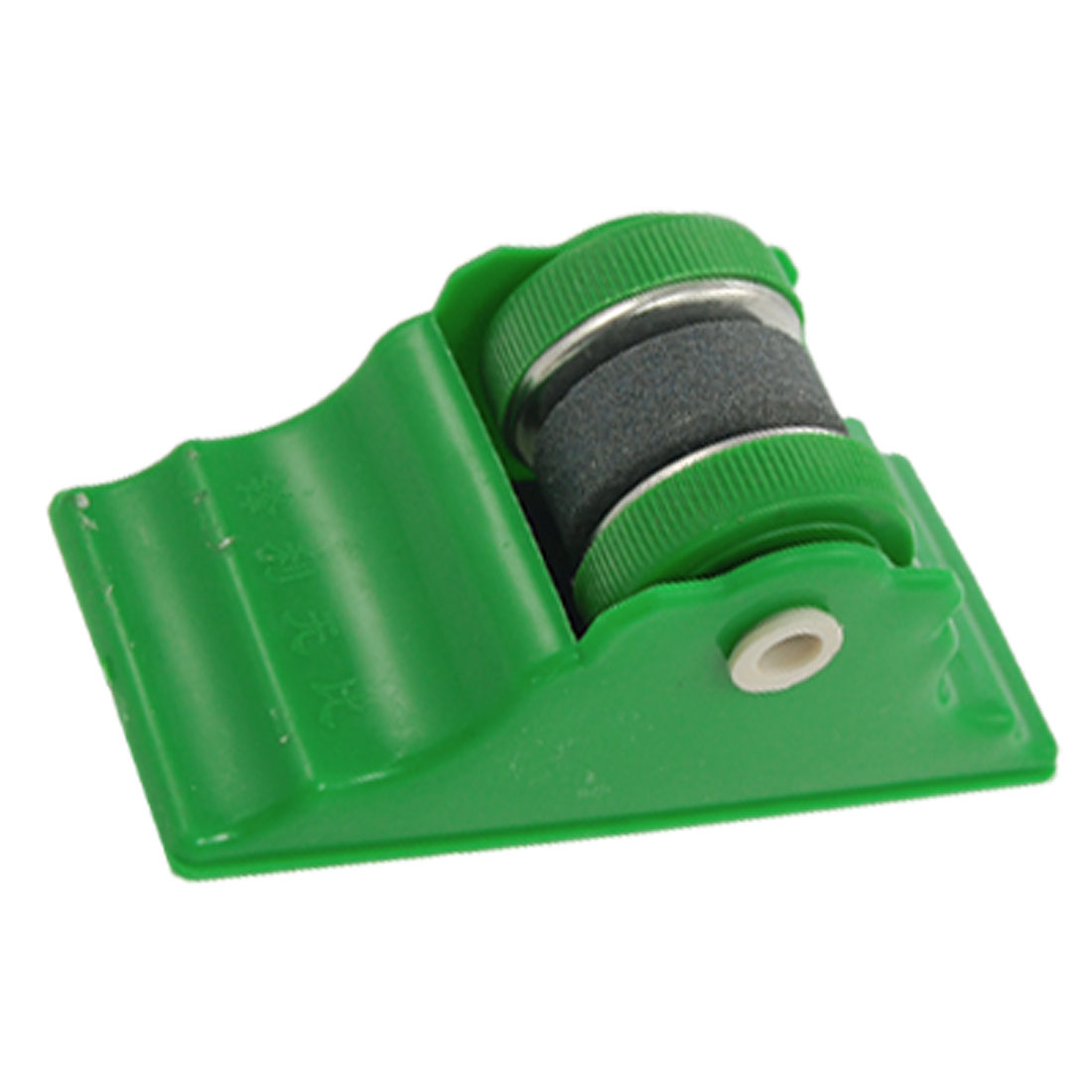 Kitchen Green Shell Grit Lapped Round Blade Whetstone Abrader Sharper
