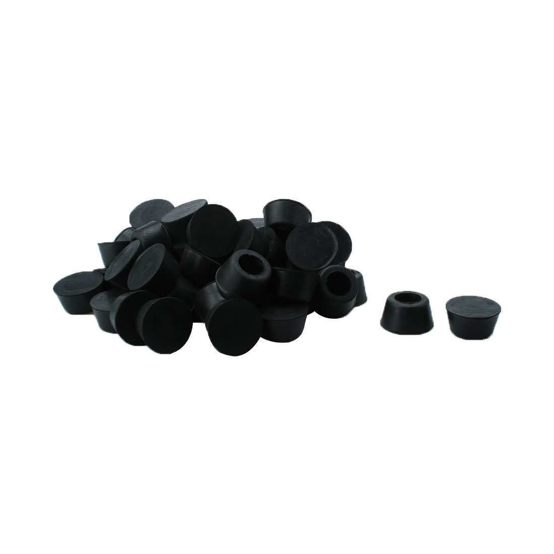 50 Pcs Conical Shaped Furniture Table Chair Black Rubber Foot Pads