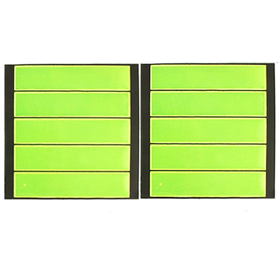 Green PVC Bar High Visibility Reflective Stickers 10 Pcs for Car