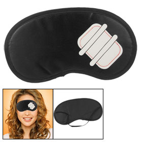 Built-in Sponge Black Elastic Strap Eye Shade Blindflod