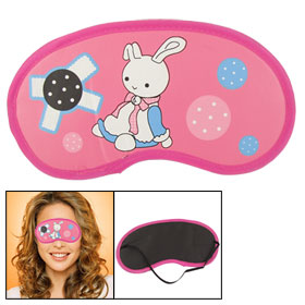 Medium Pink Cartoon Rabbit Print Eyeshade Sleep Eye Patch